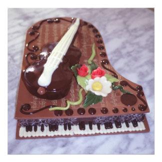 Chocolate grand piano photo print