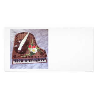 Chocolate grand piano photo card template