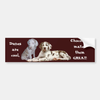 Chocolate Great Danes Bumper Sticker