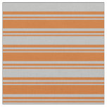 [ Thumbnail: Chocolate & Grey Colored Striped/Lined Pattern Fabric ]