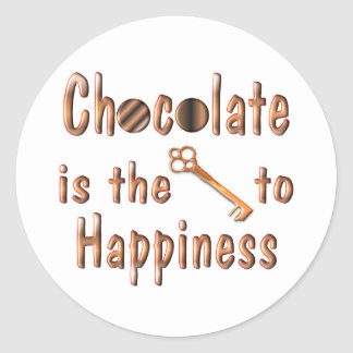 Chocolate Happiness Classic Round Sticker