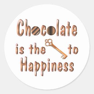 Chocolate Happiness Classic Round Sticker
