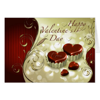 Chocolate happy valentines day card