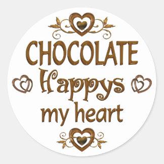 Chocolate Happys mi corazón Pegatinas