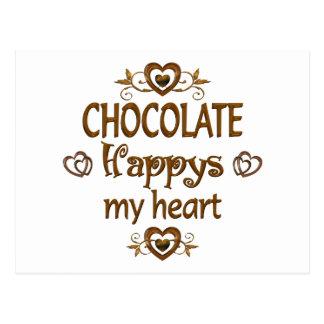 Chocolate Happys mi corazón Tarjetas Postales