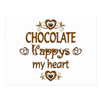 Chocolate Happys My Heart Post Cards