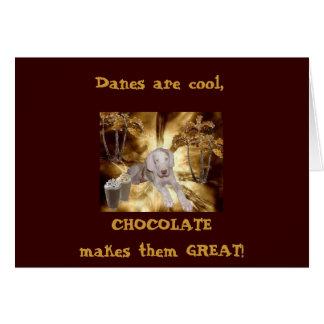 Chocolate Harlequin Card