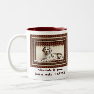 Chocolate harlequin Great Dane Puppy Coffee Mug