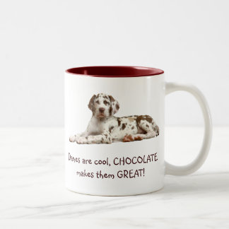 Chocolate Harlequin Two-Tone Coffee Mug