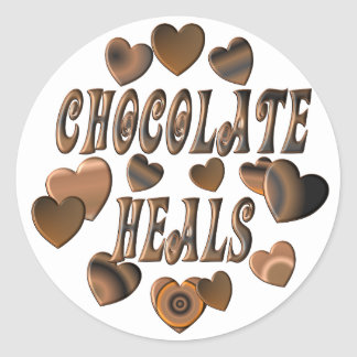 Chocolate Heals Classic Round Sticker