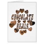 Chocolate Heals Greeting Card