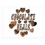Chocolate Heals Postcard