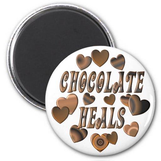 Chocolate Heals Refrigerator Magnet