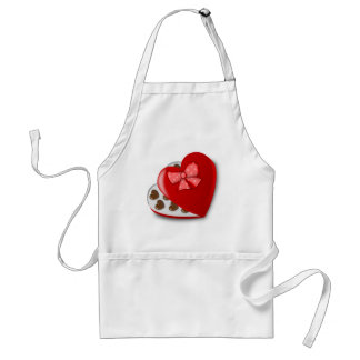 Chocolate Heart Box Adult Apron