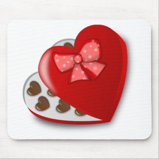Chocolate Heart Box Mouse Pad