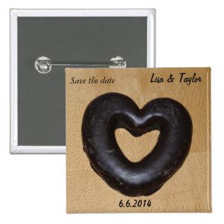 Chocolate heart button