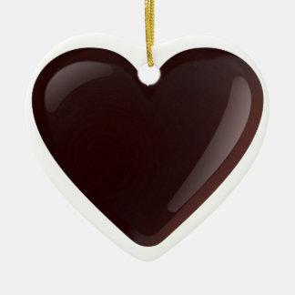 Chocolate Heart Ceramic Ornament