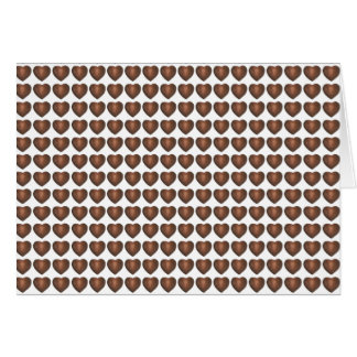 Chocolate Heart Hearts Candy Valentine's Day Cards