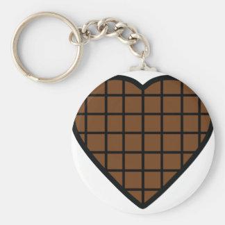 chocolate heart icon basic round button keychain