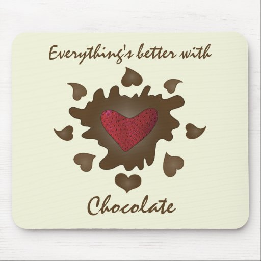 Chocolate Heart Mouse pad