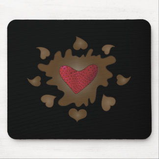 Chocolate Heart Mousepad