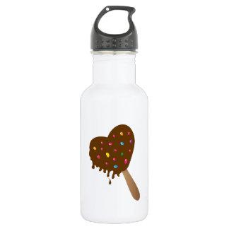 Chocolate Heart 18oz Water Bottle