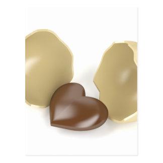 Chocolate heart postcard