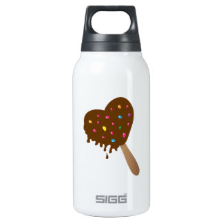 Chocolate Heart 10 Oz Insulated SIGG Thermos Water Bottle