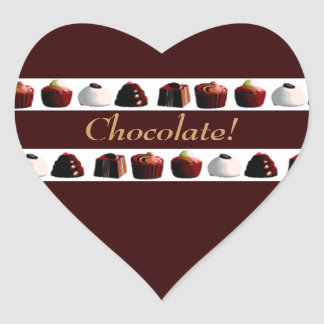 Chocolate! Heart Sticker