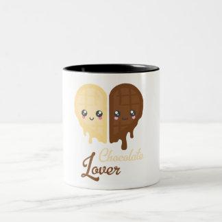 Chocolate Heart Two-Tone Coffee Mug