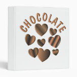 Chocolate Hearts 3 Ring Binder