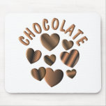 Chocolate Hearts Mouse Pad
