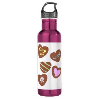 Chocolate Hearts 24oz Water Bottle