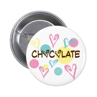 Chocolate & Hearts Pinback Button