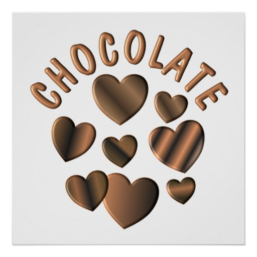 Chocolate Hearts Poster