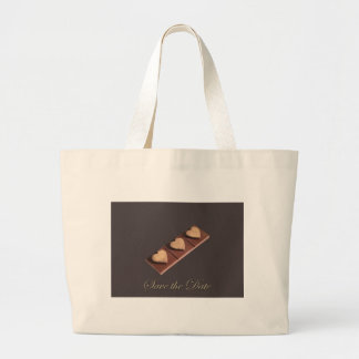 Chocolate Hearts Save the Date Canvas Bags
