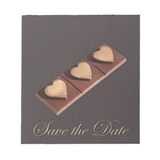 Chocolate Hearts Save the Date Scratch Pads