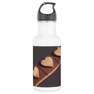 Chocolate Hearts Save the Date 18oz Water Bottle