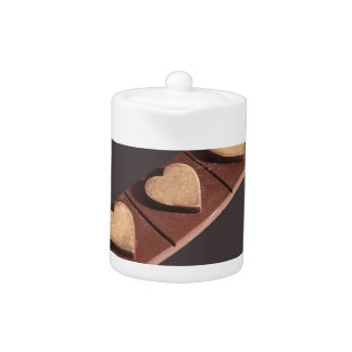 Chocolate Hearts Save the Date Teapot