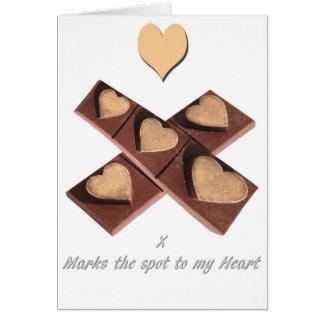 Chocolate Hearts Valentine's Day Card