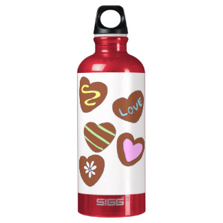 Chocolate Hearts Water Bottle