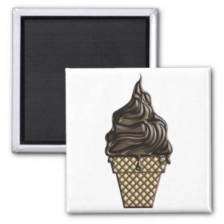 Chocolate helado día 7 de junio imán cuadrado