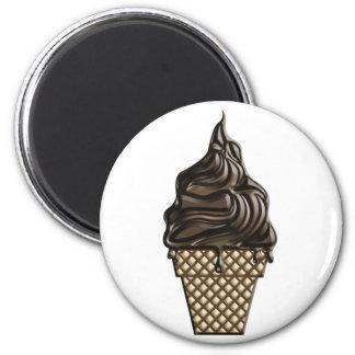 Chocolate helado día 7 de junio imán redondo 5 cm