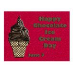 Chocolate helado día 7 de junio tarjetas postales