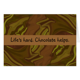 chocolate helps stationery note card