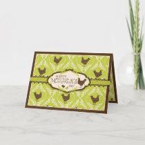Chocolate Hens Card