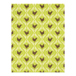 Chocolate Hens Dual-sided Scrapbook Paper A2 Flyer