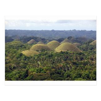 Chocolate Hills Bohol Island Philippines Postcard