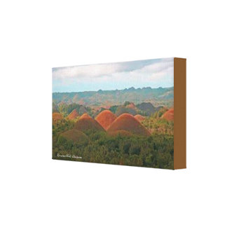 Chocolate Hills,Philippines Premium Canvas (Gloss)