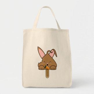 Chocolate Hopdrop Bitten Pop Tote Bag